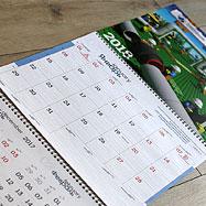 Дизайн настенного квартального календаря